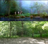 Comparison showing the original movie frame. Note: the location is miles from the nearest water!