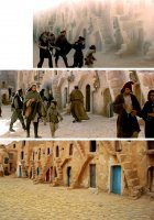Sandstorm entrance into the slave quarters of Mos Espa...