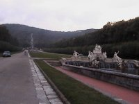 The garden in Caserta Palace (the garden was not filmed for Star Wars)