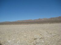 A picture I took at Koehn  Dry Lake bed in July 2009 - the surface of the lake and the surrounding hill side are the same - and the lake is in close proximity to Randsburg.