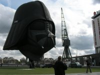The Darth Vader balloon was inflated only briefly, shame.