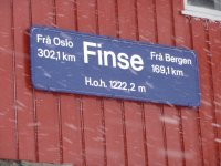 Finse train station.
