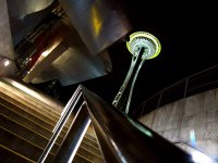 The legendary Space Needle design affords for many intriguing angles.