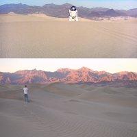 Stovepipe Wells Sand Dunes - CA AKA - Tatooine (Star Wars - A New Hope)—