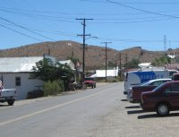 Picture I took of the main street of Randburg in July 2009.  Things have changed, but the hills and phone poles are still recognizable.