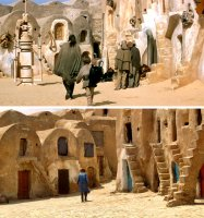 Qui-Gon and Anakin leave Tatooine...