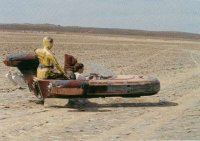 Landspeeder shot set up from Sculpting a Galaxy - looks to be Koehn Dry Lake bed.